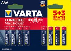 Varta baterie alkaliczne Longlife Max Power 5+3 AAA