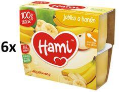 Hami 100% Ovoce jablko, banán 4 x 100 g