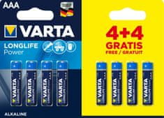Varta Longlife Power elem 4+4 AAA 4903121448