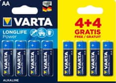 Varta Longlife Power elem 4+4 AA 4906121448