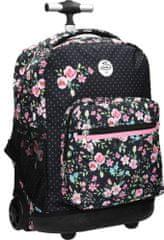 Street šolski nahrbtnik Trolley Flowers, motiv rož