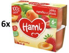Hami Jablko, marhuľa, jahoda - 6 x (4x100g)