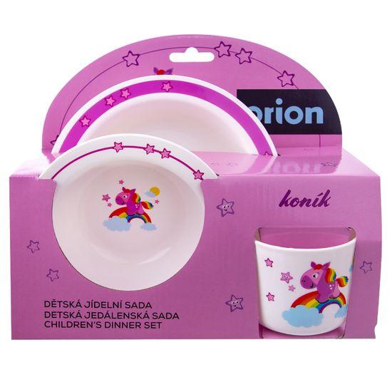 Orion zestaw naczyń dziecięcych KONIK 3 szt.
