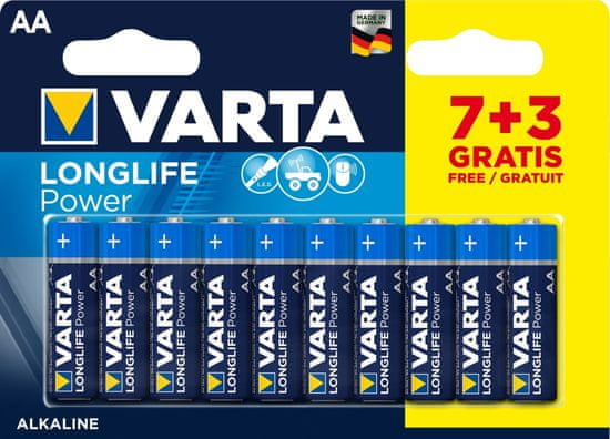 VARTA Batéria Longlife Power 7+3 AA 4906121470