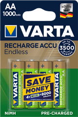 Varta Nabíjecí baterie Endless 4 AA 1000 mAh 3500 Cycles R2U 56666101404