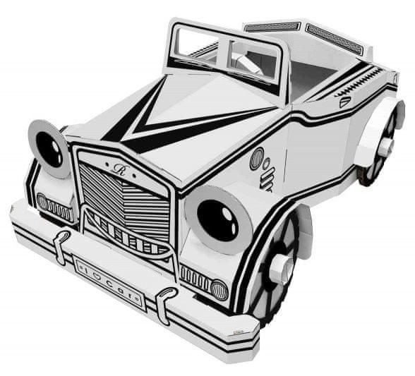 4D Cityscape Papírové hračky - Auto