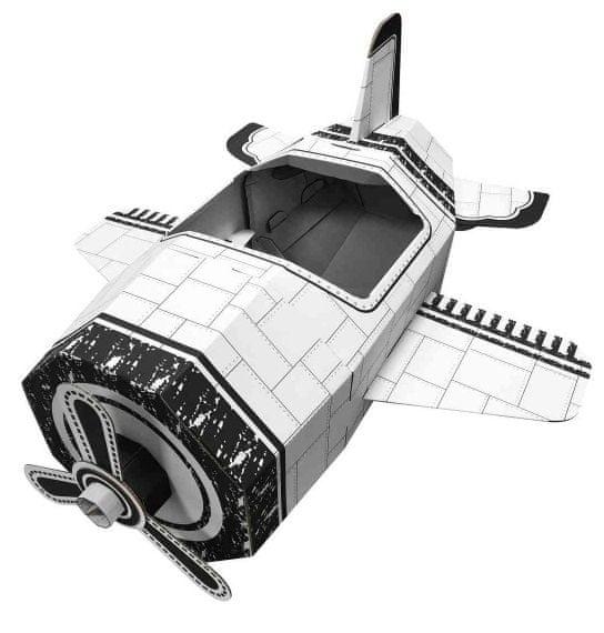 4D Cityscape Papírové hračky - Letadlo