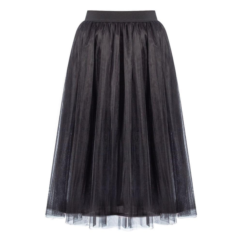 Cheremyha Tylová tutu sukně MIDI - černá