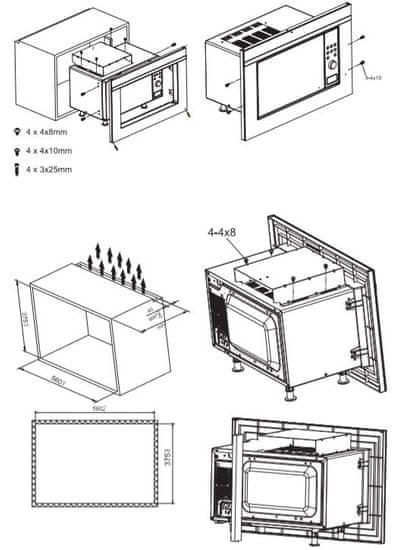 Amica vestavná mikrovlnná trouba EMW 13170 S