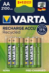 Varta Recycled 5+1 AA 2100 mAh R2U polnilna baterija 56816101476, 6 kosov