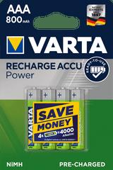 Varta Power 4 AAA 800 mAh R2U polnilna baterija 56703101404, 4 kosi