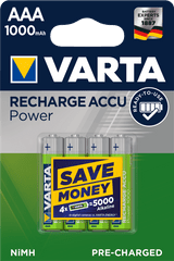 Varta akumulatory Power 4 AAA 1000 mAh R2U 5703301404