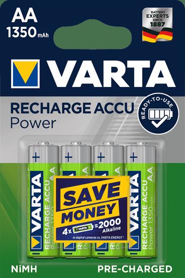 Varta Nabíjecí baterie Power 4 AA 1350 mAh R2U 56746101404