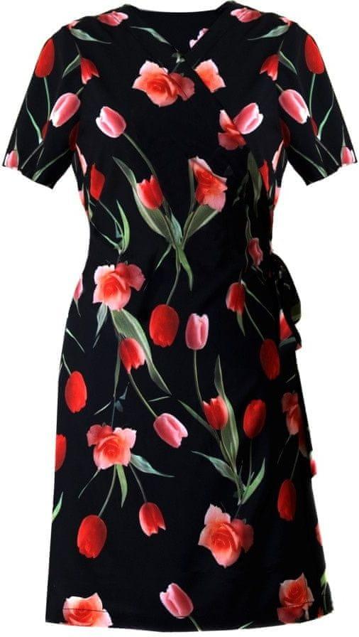 Vestis Plážové šaty Betty 1454 9901 - Vestis černá s květy L