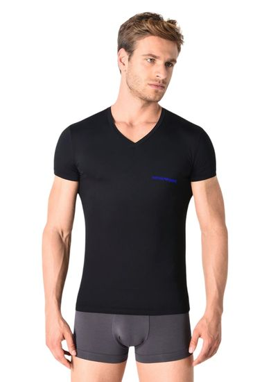 Emporio Armani Pánské tričko 110810 9P719 00020 černá - Emporio Armani černá 2XL