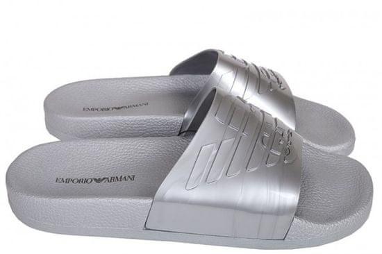 Emporio Armani Pantofle X4PS02 stříbrná - Emporio Armani stříbrná 45