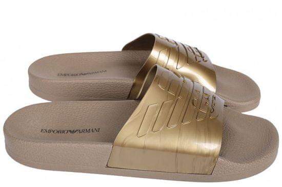 Emporio Armani Pantofle X4PS02 zlatá - Emporio Armani zlatá 45