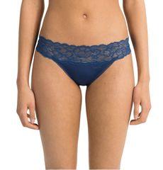 Calvin Klein Dámské tanga QF1199E-BXR tmavě modrá - Calvin Klein tmavě modrá L