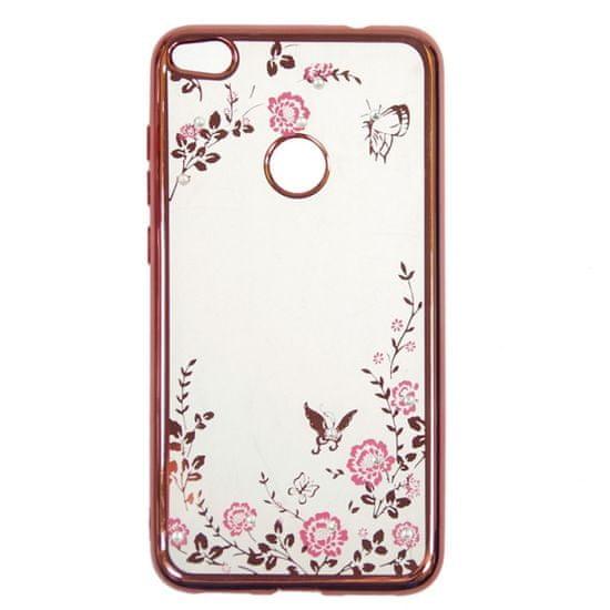 ovitek za Samsung Galaxy A10 A105, roza z rožicami