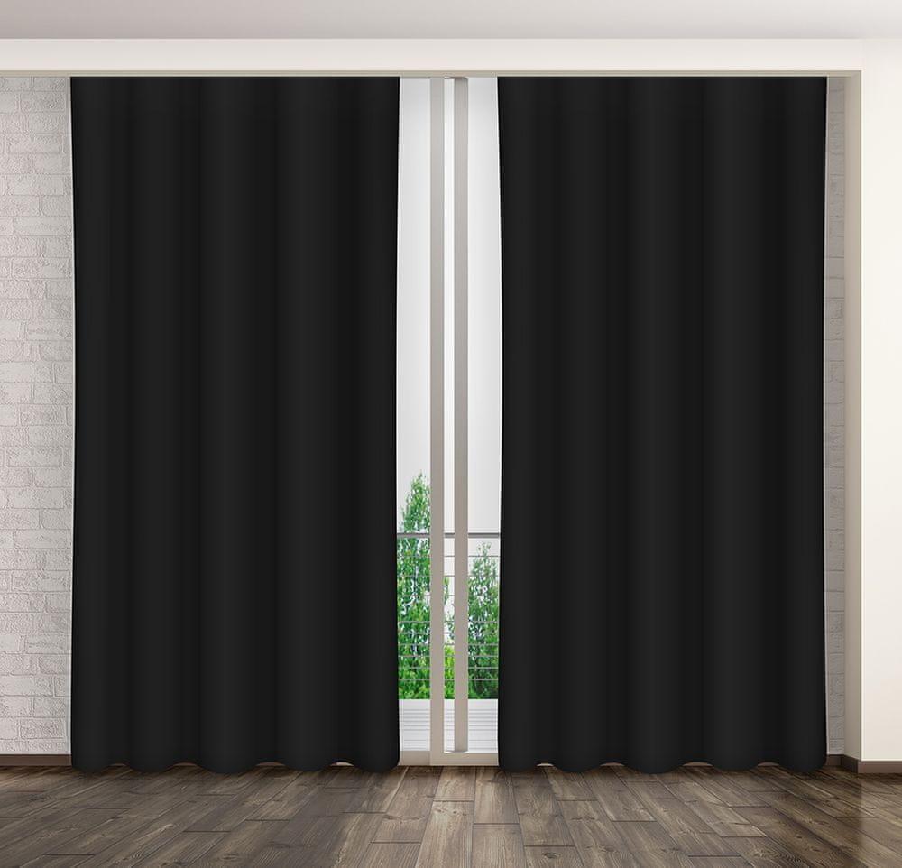 My Best Home Dekorační závěs MARTA 01 černá 160x250 cm