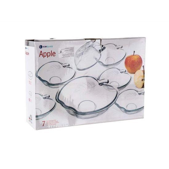 Set steklenih posod APPLE, 7 kosov