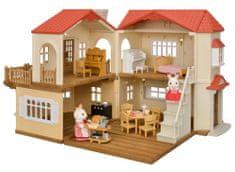 Sylvanian Families darilni set - večnadstropna hiša z rdečo streho