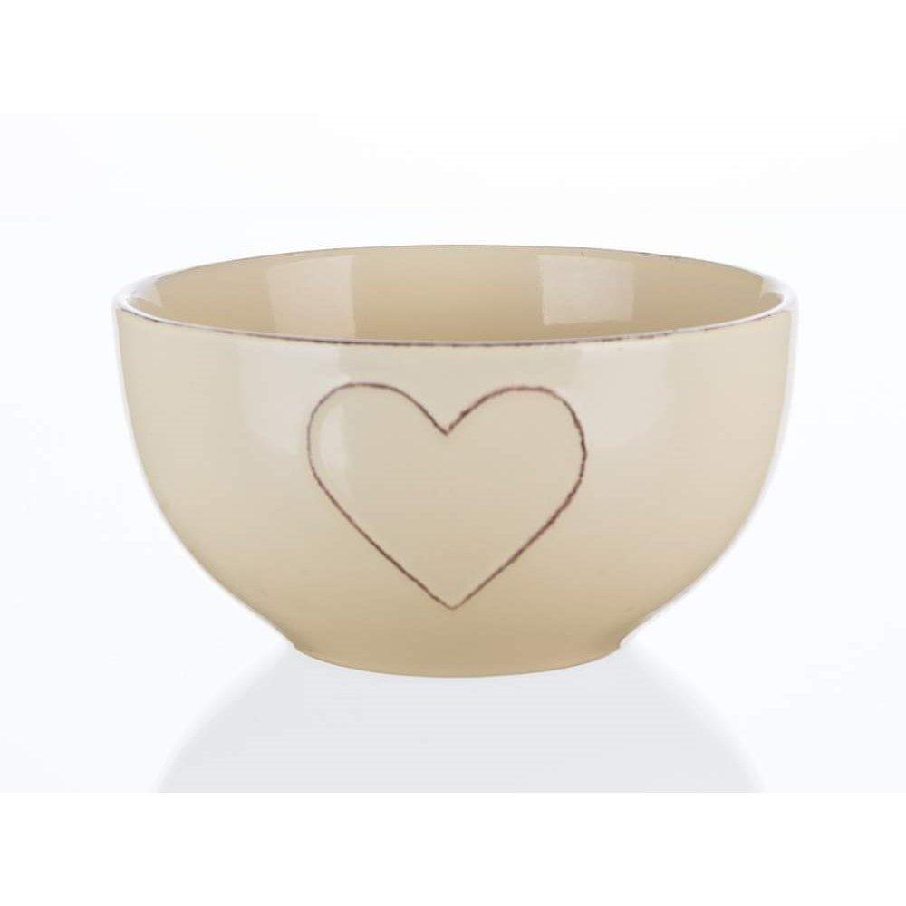 Banquet Miska keramická HEART 14 cm, mix barev 4 ks