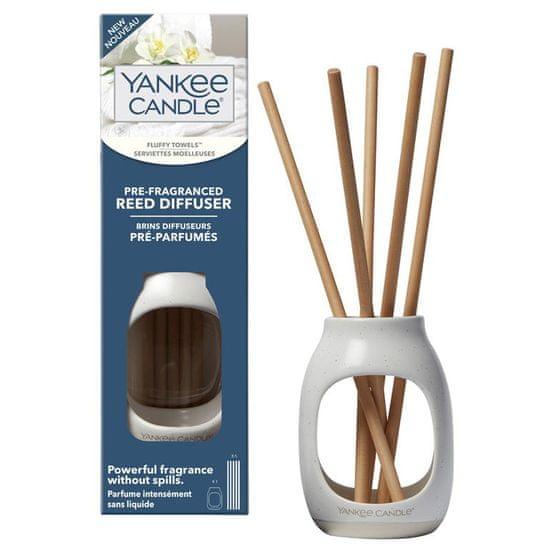 Yankee Candle pre-fragranced aroma difuzér, voňavé tyčinky Fluffy Towels