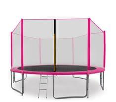 Aga Sport Pro Trampolina ogrodowa 430cm 14ft z siatką zewnętrzną, drabinką i torbą na buty - Pink