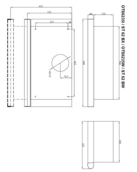 Amica ST 62 BW vestavná digestoř