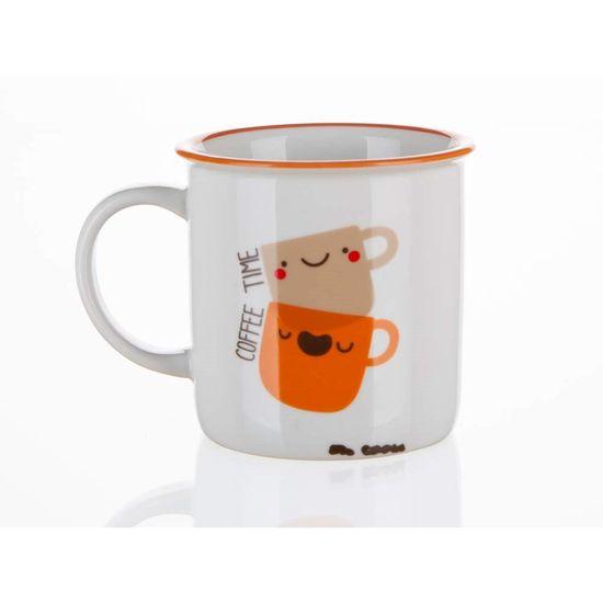 Banquet Kerámia bögre COFFEE ICONS 310 ml, Coffee Time, 4 db