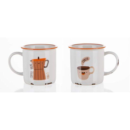 Banquet keramična skodelica COFFEE ICONS, 310 ml, Coffee Break, 4 kosi