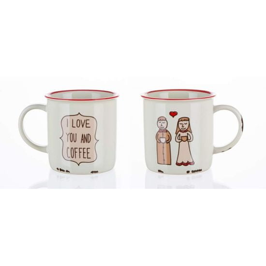Banquet keramična skodelica COFFEE STORY, 310 ml, You and Coffee, 4 kosi
