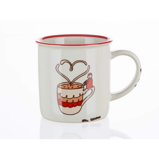 Banquet keramična skodelica COFFEE STORY, 310 ml, Of Course, 4 kosi