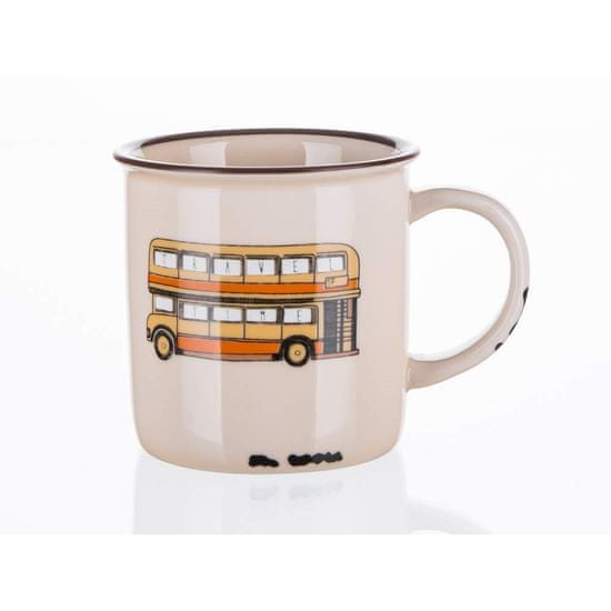Banquet keramična skodelica TRAVEL, 310 ml, bus, 4 kosi
