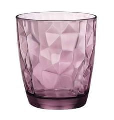 Bormiolli Sklenice DIAMOND 300 ml fialová, 6 ks