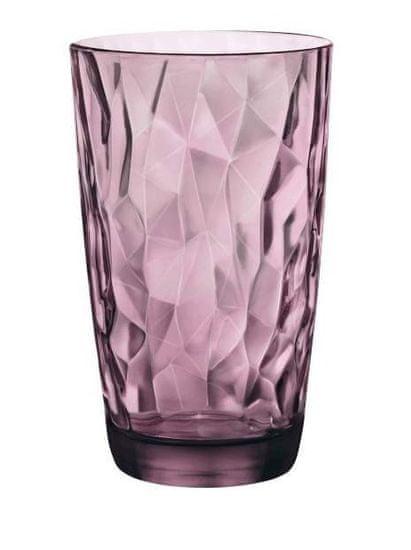 Bormiolli Sklenice DIAMOND 470 ml fialová, 6 ks