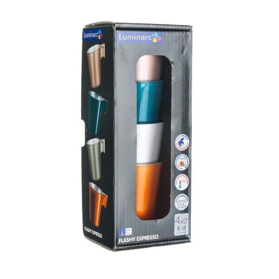 Luminarc kubek szklany FLASHY EXPRESSO 80 ml, 4 szt.