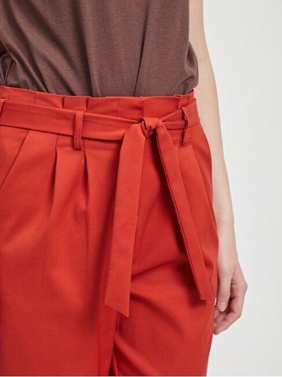VILA Ženske hlače Visofina Hwre 7/8 Pant-Noos Ketchup