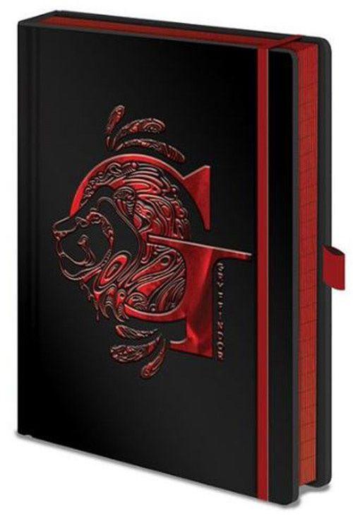 Harry Potter Luxusní zápisník A5 Harry Potter - Nebelvír, černý