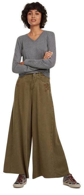 Desigual dámský svetr Jers Kensington L šedá
