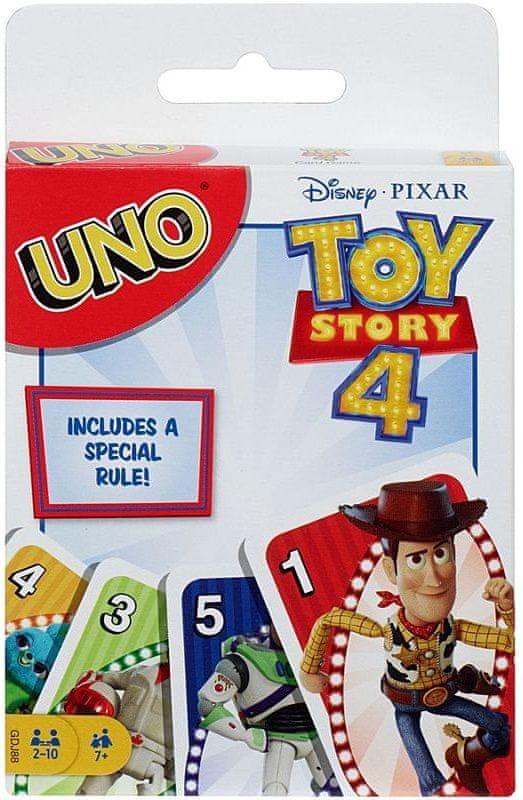 Mattel Uno Toy story 4: Příběh hraček