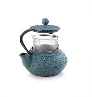 Ibili Litinová konvička na čaj modrá Fundido 300ml