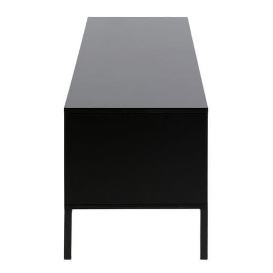 Design Scandinavia TV stolík s dverami a zásuvkou Seashell, 140 cm, dub