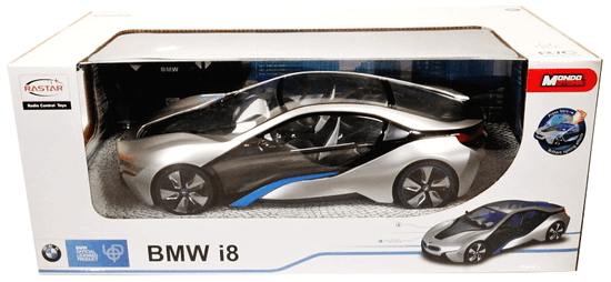Mondo Motors samochód zdalnie sterowany BMW I8 1:14 - srebrny