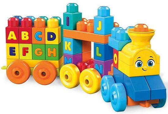 MEGA BLOKS Zenélő vonat betűkkel FWK22