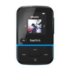 SanDisk MP3 Clip Sport GO 32 GB, modrá