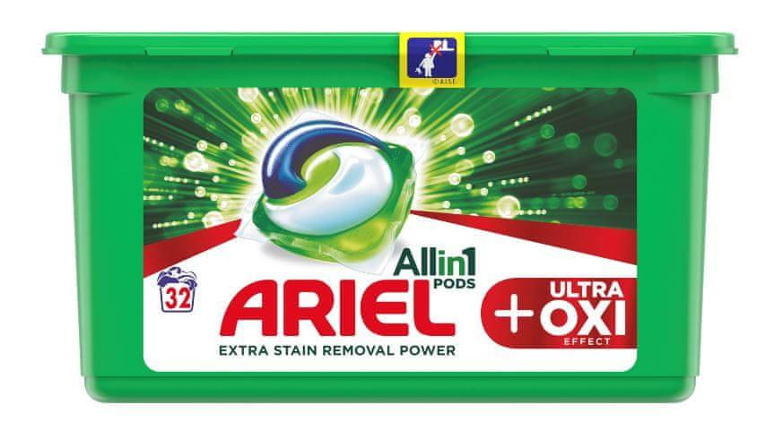 Ariel Gelové kapsle Ultra OXI All in 1 - 32 ks