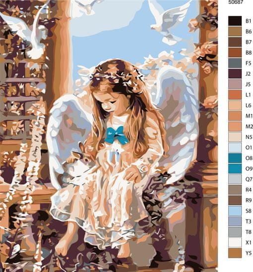 Maluješ Malování podle čísel - ANDÍLEK