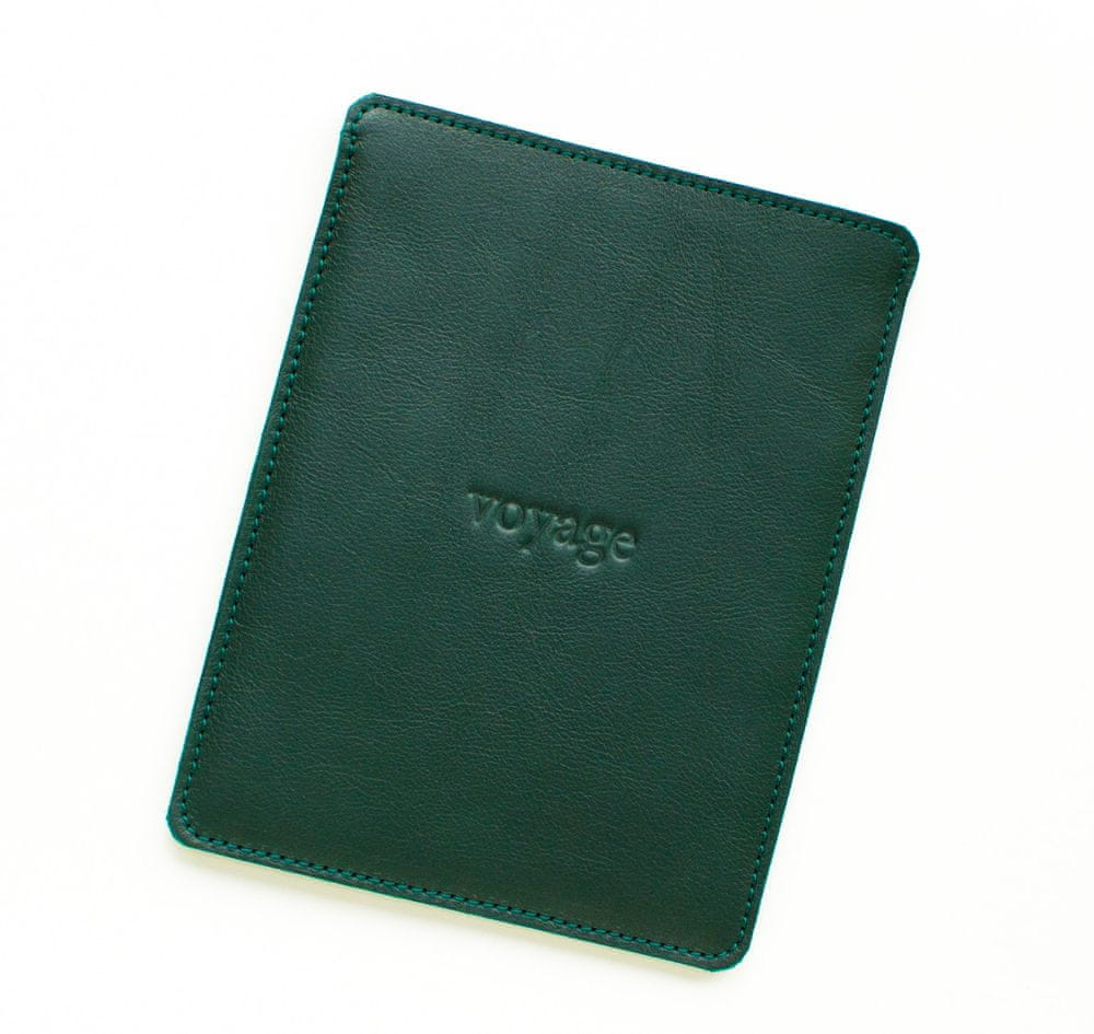 Voyage Kožený obal na Amazon Kindle Oasis // PELTA (Green)